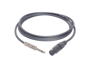 Hosa MXP-020 24 AWG Mic Cable - w/ Neutrik XLR female to 1/4-inch Phone - 20 ft.