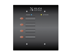 Xilica Mini S4 White, Four programmable On/Off buttons, NeuPanel Series