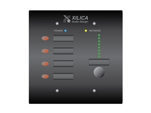 Xilica Mini S4K1 White, Four programmable On/Off buttons, Level Controls, NeuPanel Series
