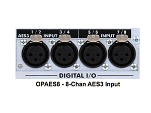 Ashly OPAES8 - (8-Chan AES3 Input) Option card only for ne-multi-channel amp with no AES3