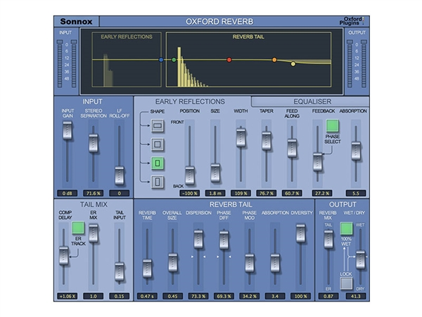 Sonnox Oxford Reverb Plug-in HD-HDX
