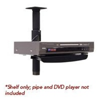 Chief PAC102B, Accessory Shelf for Flat Panel Pole Installations, Black