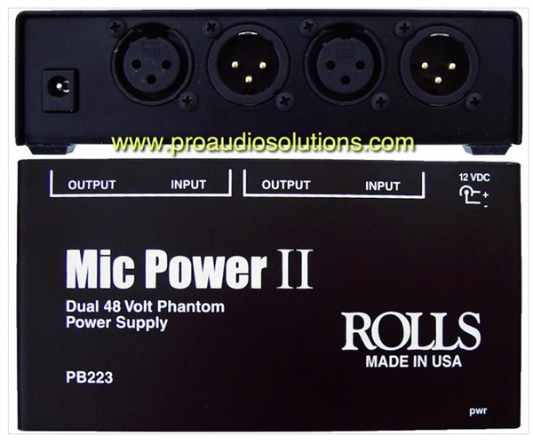Rolls PB223 - 2 channel  Phantom Adapter