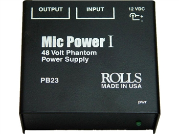Rolls PB23 Mic Power I Phantom Power Adaptor