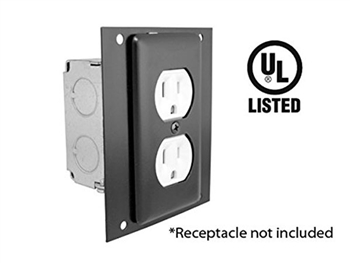 ACE Backstage PE Plate Electrical Duplex plate - AC Receptacle not included