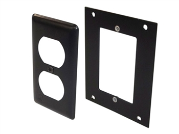 ACE Backstage PE-MP, Aluminum Mounting Panel & Narrow Duplex Cover