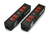 Whirlwind PL1T-420-RD - Power Link - PL1 Stringer, PowerCon True1 I/O, (2) HBL5352RD, indicator lamp