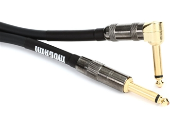 Mogami PLATINUM GUITAR-12R, Guitar Cable, 12 Ft. Straight 1/4 TS to right angle 1/4 TS
