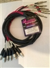 Quantum Audio PMT8-15FS  8-Channel 1/4-inch TRS to XLRF Cable  15 Ft.