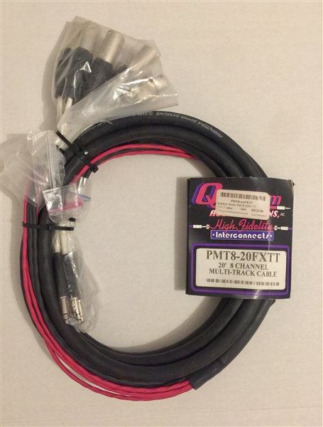 Quantum-Audio PMT8-20FXTT, 8-Channel TT to 4 XLRM & 4 XLRF Cable, 20 Ft.