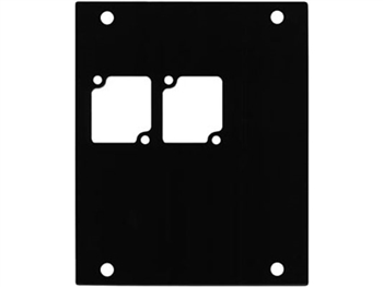 ACE Backstage PNL-102 Aluminum P Panel with 2 Connectrix cutouts -BLACK