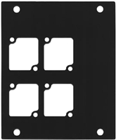 ACE Backstage PNL-104 Aluminum P Panel with 4 Connectrix cutouts -BLACK