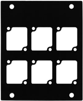 ACE Backstage PNL-106 Aluminum P Panel with 6  Connectrix cutouts -BLACK