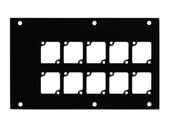 ACE Backstage PNL-1210 Aluminum F Panel with 10 Connectrix Cutouts BLACK