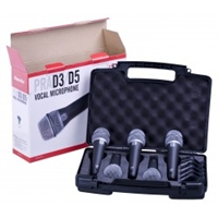 Superlux PRA-D5 Mic Kit with  5 PRA-D1 mics and stand adaptors in carrying case