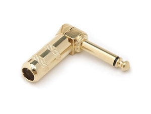 Hosa PRG-370AU - Right Angle 1/4-inch TS Male Connector - Gold plated