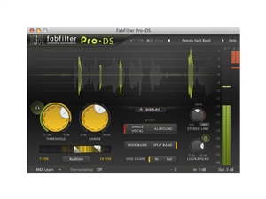 FabFilter Pro-DS, Intelligent & transparent de-esser plug-in (Download)