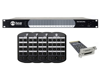 Hear Technologies Hear Back PRO Four Pack, AES/EBU Input