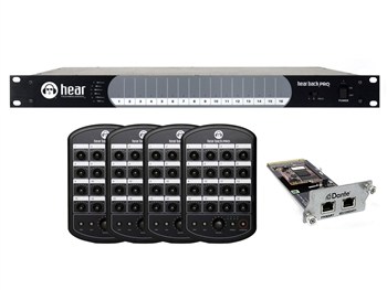 Hear Technologies Hear Back PRO Four Pack, Dante Input