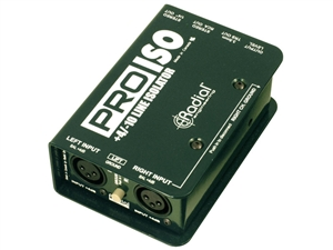 Radial ProISO - Stereo +4dB to -10dB converters
