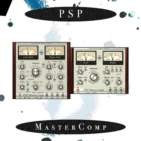 PSP MasterComp - a single band stereo mastering compressor Plug-in