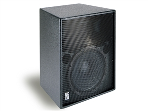 "Bag End PTA5000-I - Powered Black Painted 15"" 2-Way Installation Enclosure w/ Fly Points"