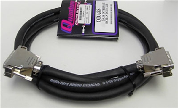 Quantum Audio QDA88-10 D-SUB 25pin to D-SUB 25pin 8-Channel Analog Snake Cable, 10 Ft.