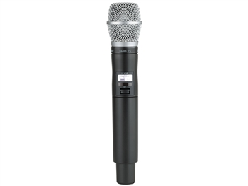 Shure QLXD2/SM86 H50 Band (534.000 - 597.925 MHz) Handheld Transmitter with SM86 Microphone