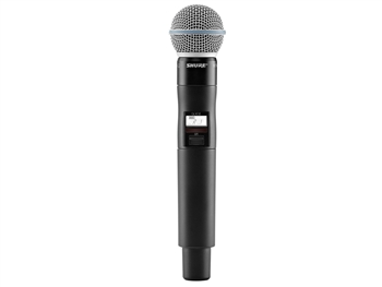 Shure QLXD2/B58 L50 Band (632.175 - 695.900 MHz) Handheld Transmitter with Beta58A Microphone