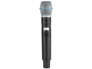 Shure QLXD2/B87A J50 Band (572.175 - 635.900 MHz) Handheld Transmitter with Beta87A Microphone