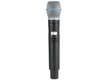 Shure QLXD2/B87C H50 Band (534.000 - 597.925 MHz) Handheld Transmitter with Beta87C Microphone