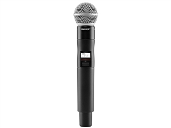Shure QLXD2/SM58 G50 Band (470.125 - 533.925 MHz) Handheld Transmitter with SM58 Microphone