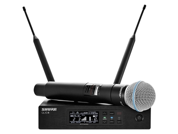 Shure QLXD24/B58 G50 Band (470.125 - 533.925 MHz) Beta 58 Vocal System