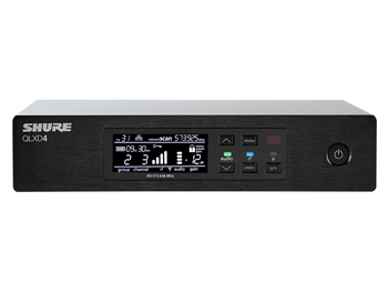 Shure QLXD4 G50 Band (470.125 - 533.925 MHz) Half-Rack, Single Channel Receiver