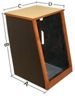 Sound Construction R20-1,20-Space, 1-Bay Rack