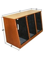 Sound Construction R20-3,20-Space, 3-Bay Rack