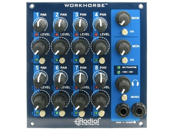Radial Engineering WM8 Mixer - 500 Series 8-slot add-on mixer for WR8 Rack