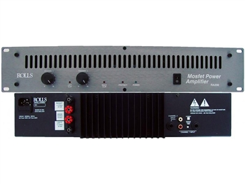 Rolls RA200 Stereo Power  Amp 100 Watt/ CH 2U