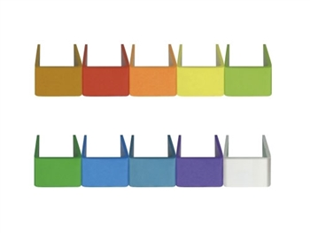 MIPRO RH-87, Set of 10 multi-colored identification end caps for ACT-71Ha and ACT-80H handheld microphones