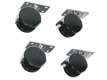 "Middle Atlantic RKW - 4 Wheel Kit (2 locking) for Racks, adds 2-3/4"" to height"