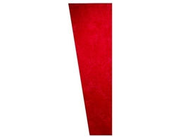 Auralex SonoSuede Trapezoid Panel Red (Left Angle)
