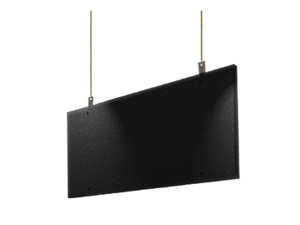 "Primacoustic Saturna, Black Hanging Ceiling Baffle, 24""x 48"" x 2"""