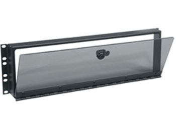 "Middle Atlantic SECL-3 - 3 Space (5 1/4"") Hinged Smoked Plexi Security Cover"