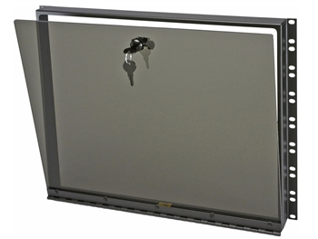 "Middle Atlantic SECL-8 - 8 Space (14"") Hinged Smoked Plexi Security Cover"