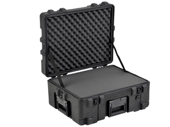 "SKB 3R2217-10B-CW Roto Mil-Std Waterproof Case 10"" Deep (w/ cubed foam pull handle and wheels) with Foam inserts"