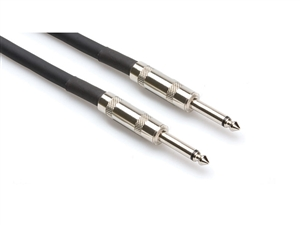 SKJ-610 Speaker Cable, Hosa 1/4 in TS to Same, 10 ft, Hosa