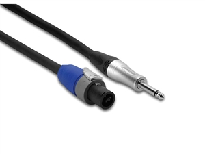 Hosa SKT-203Q Speaker Cable - 12 AWG x 2 - Speakon NL2 to Jumbo 1/4-inch Phone - 3 ft.