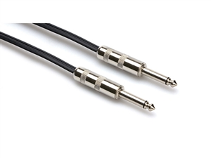 SKZ-615 Speaker Cable, Hosa 1/4 in TS to Same, Black Zip, 15 ft, Hosa