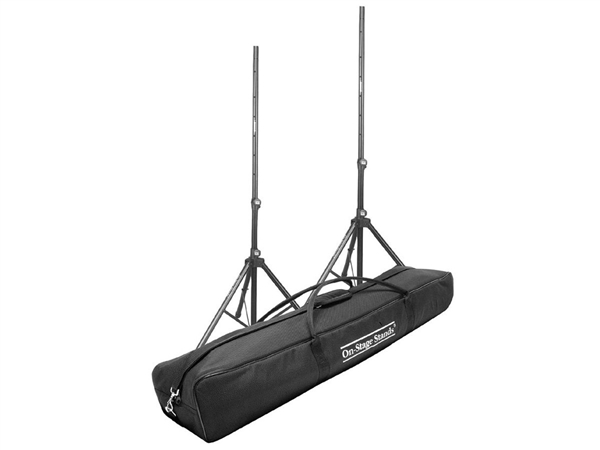On-Stage SSP7950 package - SS7761B Tripod Speaker Stand x 2 with SSB6500 carrybag