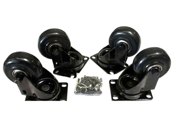 "QSC Subwoofer Caster Kit, 3"" caster wheels (4 pack)"